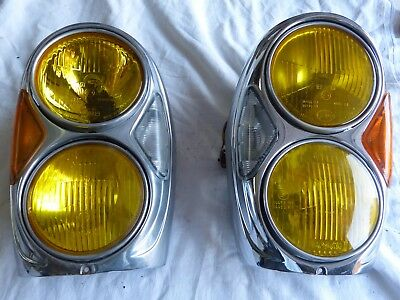 Mercedes Benz.w108..109 111 Headlights .2 Code/phare Us D'occasions Jaunes