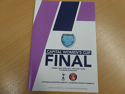 Tottenham Hotspur Ladies v Charlton Athletic Women Capital Cup Final 24.4.17