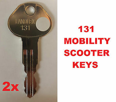 2 x 131 LANDLEX BROADWAY Mobility Scooter Keys CUT TO CODE REPLACEMENT KEY