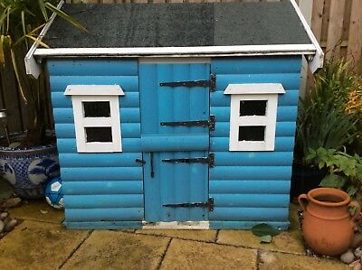 Child's toddler's wooden playhouse play house wendy outdoor