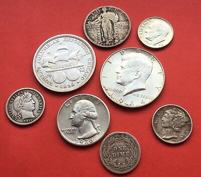 United States coins 1892-1964 Half dollars to dimes.