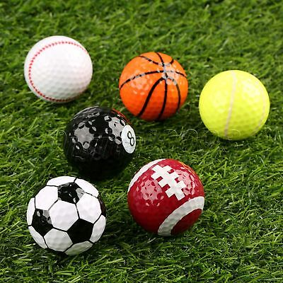 Sports Golf Balls Add Fun Outdoor Training Practice Novelty Assorted Creative