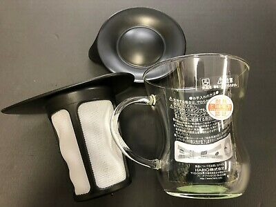 Hario One Cup Tea Maker 200ml Black OTM-1B 1 Cup from JAPAN