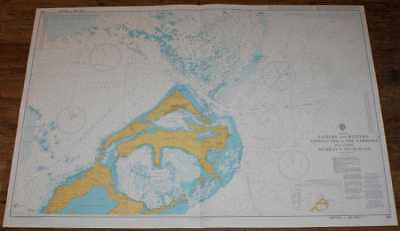 Nautical Chart No. 868  Bermuda - Eastern and Western Approaches to the Narrows