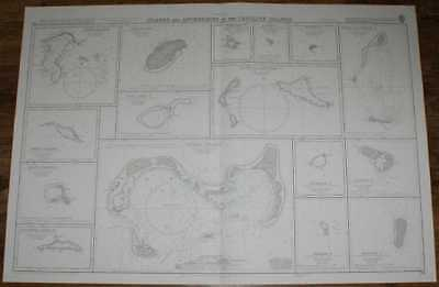 Nautical Chart No. 772 Pacific Ocean - Islands & Anchorages in Caroline Islands