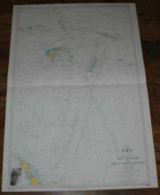 Nautical Chart No. 4605 S Pacific Ocean - New Zealand to Fiji and Samoa Islands