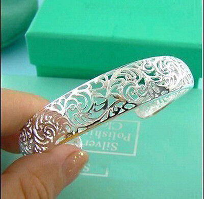 Wholesale  Gift Solid  925 Sterling Silver Jewelry Bangle Bracelet