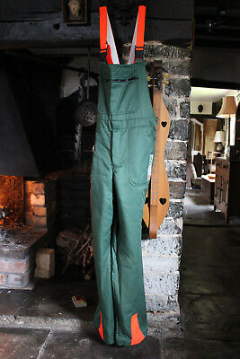 """CHAINSAW PROTECTION SAFETY TROUSERS / BIB & BRACE 36"""" - Like New - Never Worn"""