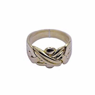 18k Yellow Gold Plated 6 Band Turkish Puzzle Ring - Sizes from 5 to 13