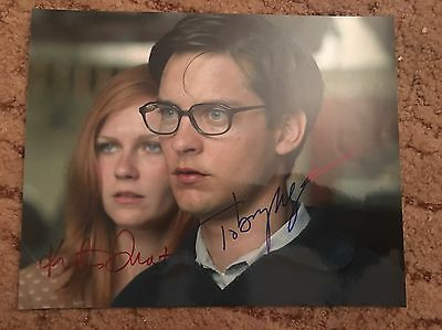 Toby Maguire And Kirsten Dunst Hand Signed Picture With COA