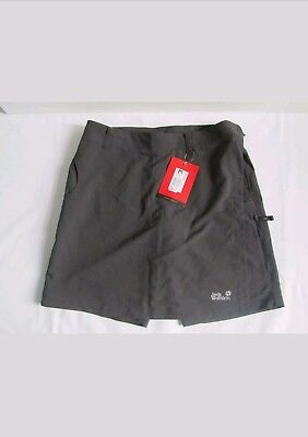 women's jack wolfskin new fast track shorts-skirt 2in1 size 12-14 hiking 55RRP