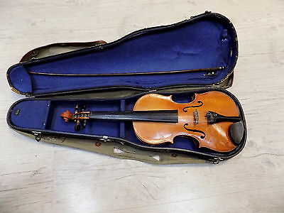Vintage German Violin 30 cm Long Body Could be Used for Parts or Decoration