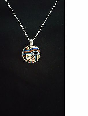 Ancient Egyptian symbol of protection Eye of Horus silver pendant Gift for Her
