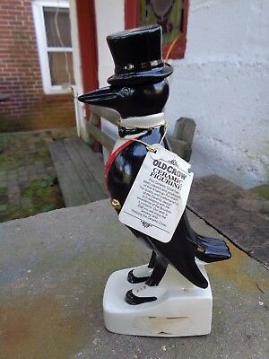 Vintage Old Crow Kentucky Straight Bourbon Whiskey Decanter Bottle Sign Beer