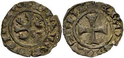 FORVM Crusader Kingdom of Cyprus James I 1382-1398 Billon Denier Nice For Type