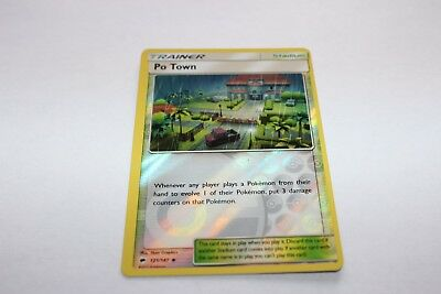 Pokemon Po Town Trainer Card Mint Condition Reverse Holo 121/147 Burning Shadows