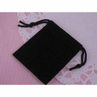 Pack Gift Bags Of Small Black Velvet Pouches With Drawstring For Jewelry