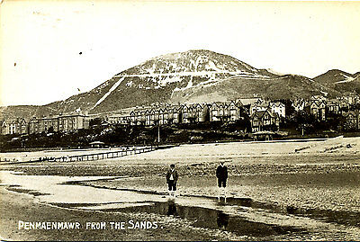 CAERNARVONSHIRE - 1914 Postcard of Penmaenmawr from the Sands - Posted locally