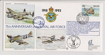 RAF FDC  - Belize - 75th Anniversary of RAF - Signed - 1993 - (1412) (X)