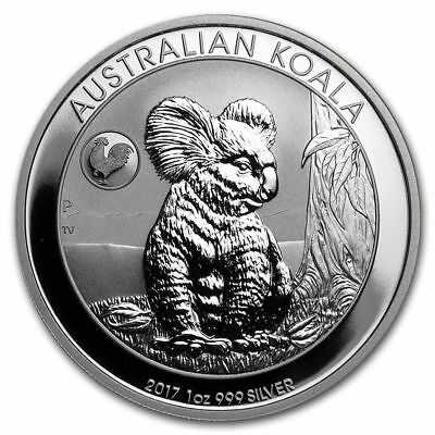 2017 1 oz. Silver Australian Koala ROOSTER PRIVY BU Coin - Only 25,000 Minted!