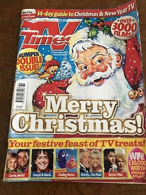 TV Times Christmas/ New Year Mag 2007/2008