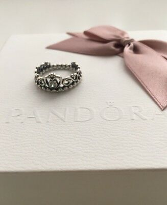 Genuine Pandora Princess Tiara Ring Size 52 - Excellent Condition