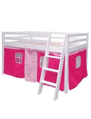Mid Sleeper Kids *TENT CURTAIN* Cabin Bed Bunk Bed Storage pink *see description