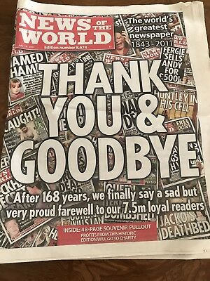 News Of The World Last Ever Edition July 10 2011