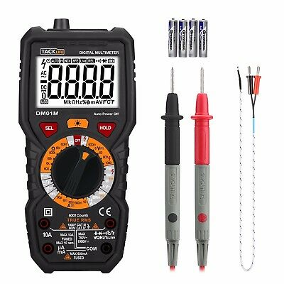 Multimeter, Tacklife DM01M Advanced Digital True RMS 6000 Counts Tester Non Cont