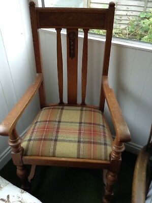 Huge Vintage Carver Style Chair With Ornate Carved Working