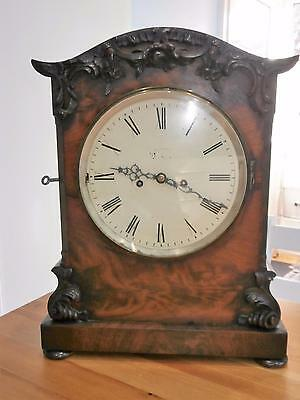 Mahogany Double fusee Bracket Clock in Good Working Order