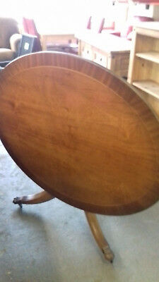 Regency Style, OVAL TILT TOP Coffee Table. Claw Feet, Casters.. V.G.C..