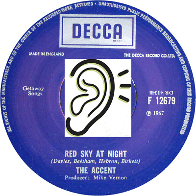 The Accent - Red Sky At Night / Wind Of Change - Psych Classic