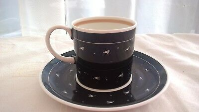 Vintage Retro Susie Cooper Black Coffee Can Cup & Saucer A/F - China