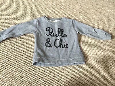 Zara Girl Sparkle jumper. Age 3-4. Cotton & so gorgeous. Belle and chic Design.