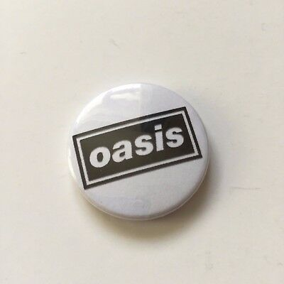 Oasis Button Badge 90S - Liam Gallagher Noel Gallagher
