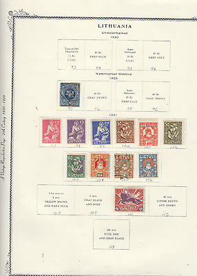 Lithuania To 1940 Good Mint Used Collection On Album Pages