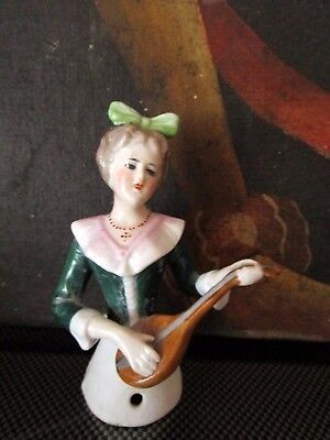 Antique porcelain tea-half doll  -Germany