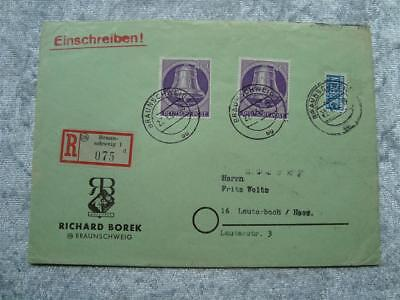 Brief Berlin Briefmarken Nr. 105 Plus Notopfermarke