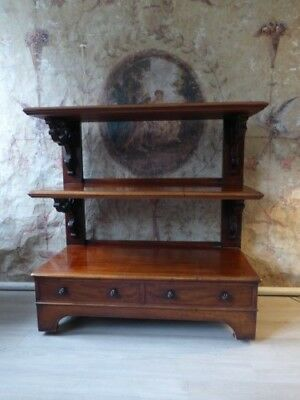 Good Quality Antique Mahogany Buffet/dumb Waiter/server