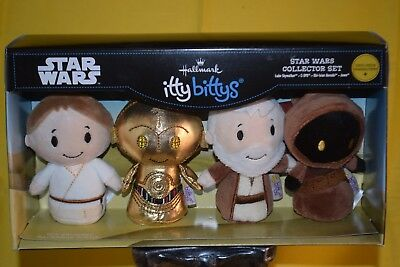 "Hallmark Limited Itty Bittys Plush  ""STAR WARS Collector Boxed Set of Four  NIB"