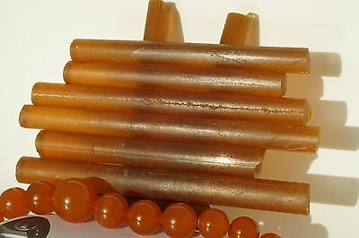 Antique  Pressed Amber Forms For Beads Carving 233 Grams,beeswax Color