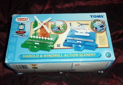 Thomas the Tank Engine trackmaster helicopter and windmill
