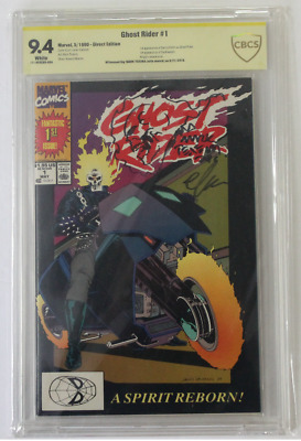 CBCS Graded 9.4, NM, Ghost Rider No. 1, 1990, Signed/Sketch Mark Texeira