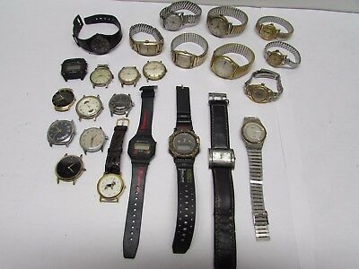 VINTAGE to NOW--Mens Watch lot--Estate Hoard--NO RESERVE