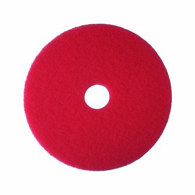 "3M Red Buffer Pad 5100 14"" Floor Buffer Machine Use (Case of 5) 14"""