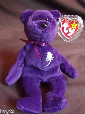 1997 Authentic Ty Beanie Babies Princess Diana Di 1st Edition PVC China No Space