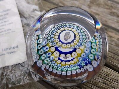 Rare Whitefriars Owl Glass Paperweight Millefiori Boxed Certificate Perfect