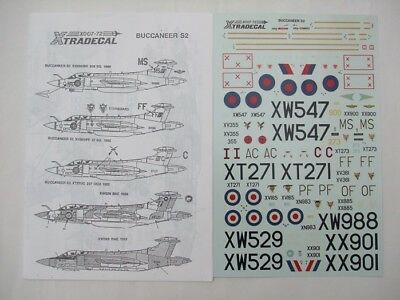1/72 scale Xtradecal X007-72 Buccaneer S2 NEW