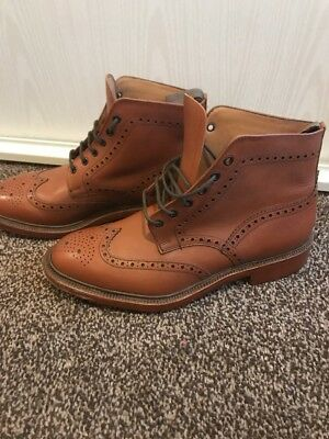 Loake Burford Brogues Tan Leather Size 9